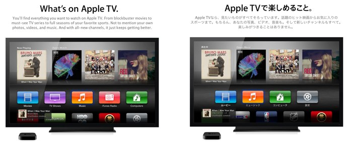 AppleTVで楽しめること