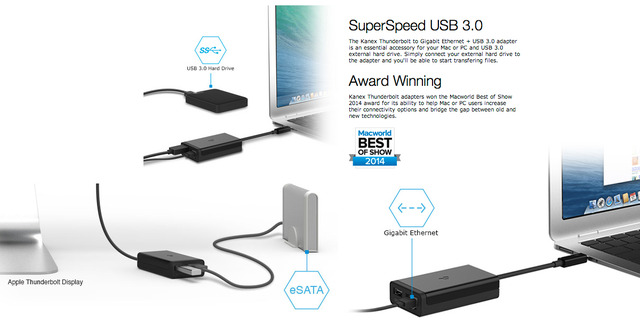 Kanex-Thuderbolt-USB3-Ether-or-eSATA-Adapter