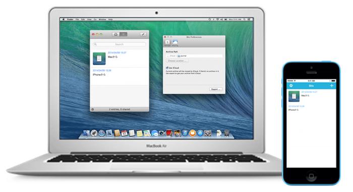 iPhoneとMac-Bits