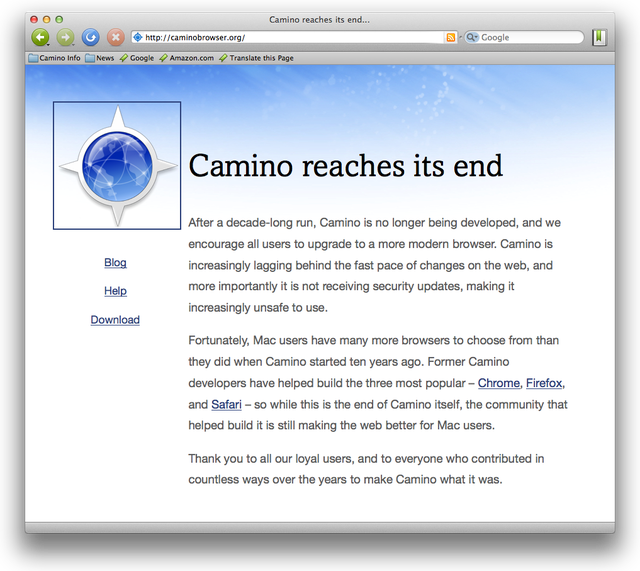 Camino reaches its end