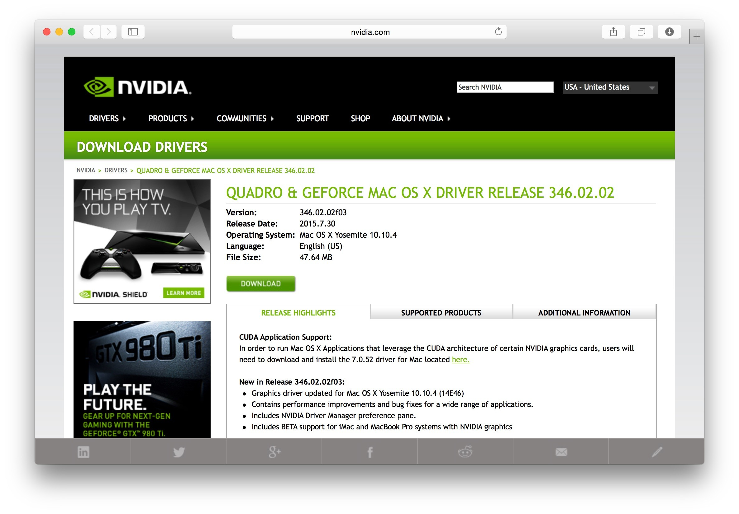NVIDIA-Quadoro-GeForce-Mac-OS-X-Driver-Hero