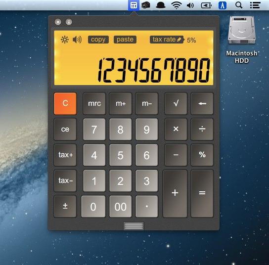 メニューバーに常駐するCalculator LCD