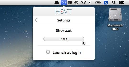 HOVTのショートカットキー
