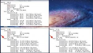 MacBook Air Mid 2012のSDカードリーダーとBSCR15TU3BKのベンチマーク