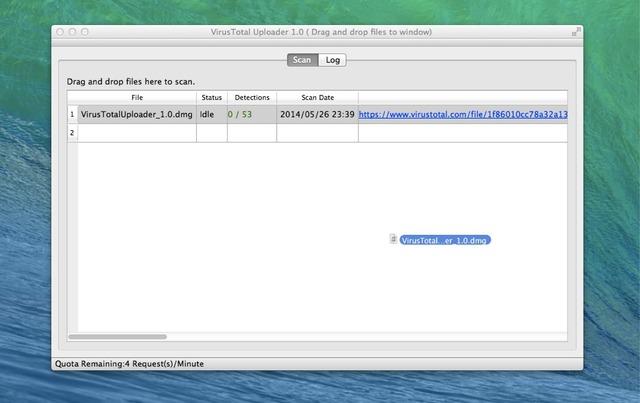 VirusTotal-Uploader-OS-X-description