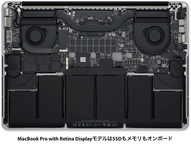 MacBookProRetinaはオンボード