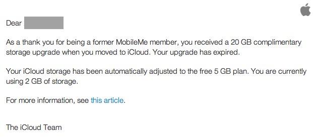 iCloud Teamからのメール