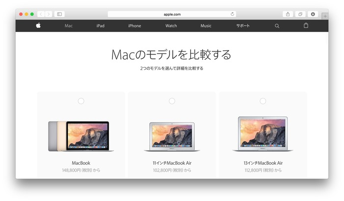 Compare-Mac-models