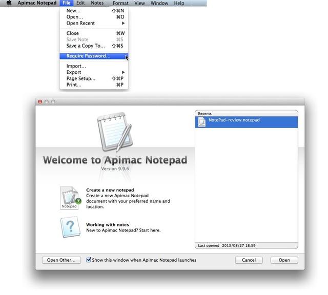 Apimac Notepadはプロジェクトで管理2
