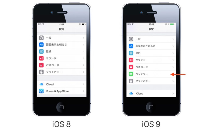 iOS8-vs-iOS9-Eco