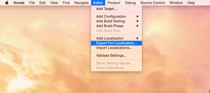 Xcode-Export-for-Localization