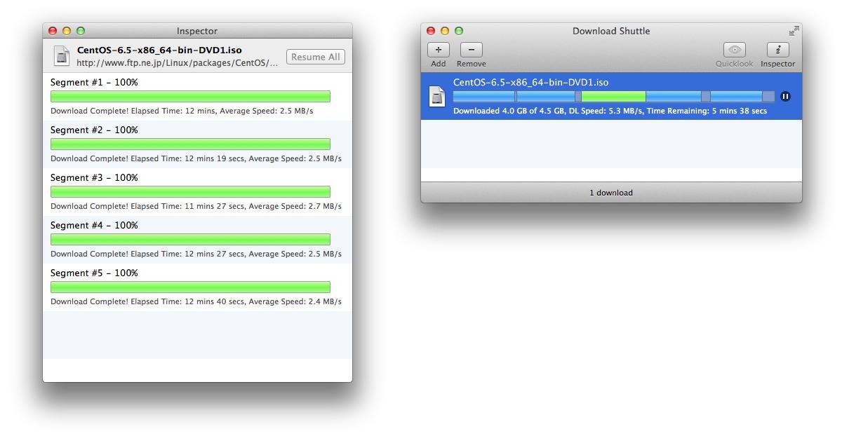 ファイルを分割 リジュームダウンロードできるmac用ダウンロード