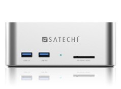 Satechi サテチ アルミニウム USB3.0 SATA III HDD ドッキングステーション (USB3.0x2ポートとSDカードリーダー付き) ST-U3ADS