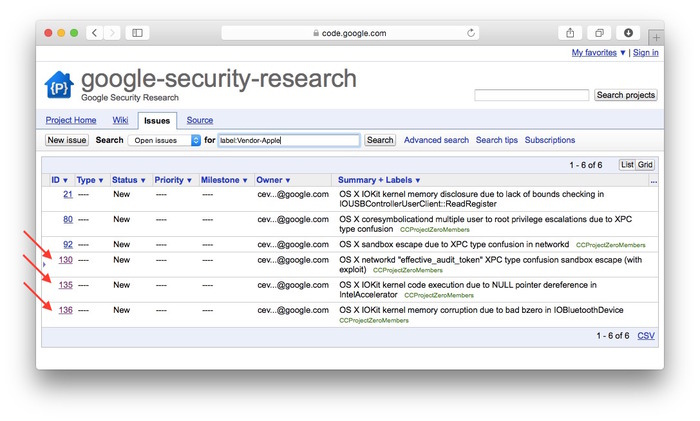 Issues-google-security-research-for-Apple