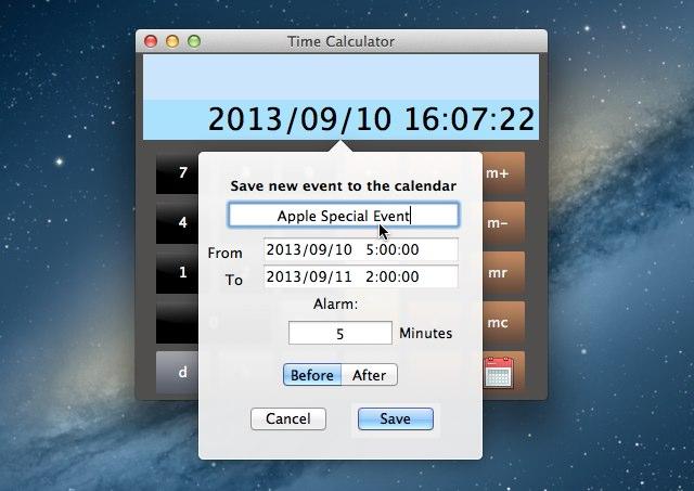 Time Calculatorのリマインダー機能