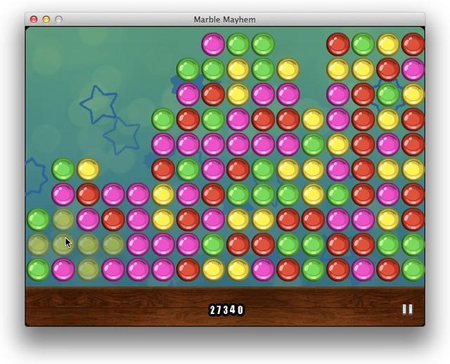 Marble Mayhemはバブルブレーカーゲームです