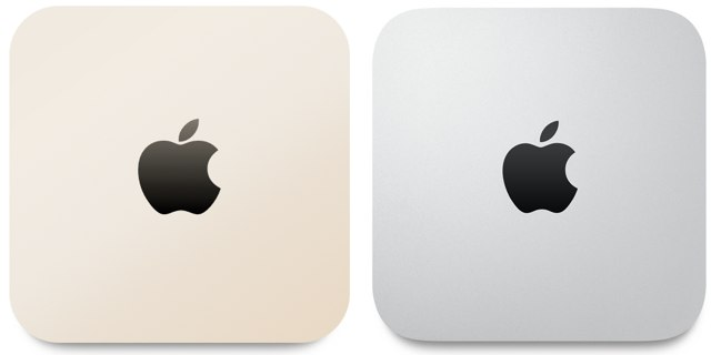 Mac mini Gold and Silver Hero