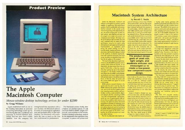 Byte誌1984年2月号Macintoshプレビュ