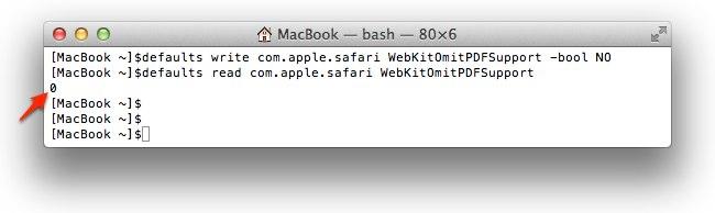 Safari WebKitOmitPDFSupport -bool NOでPDFファイル閲覧