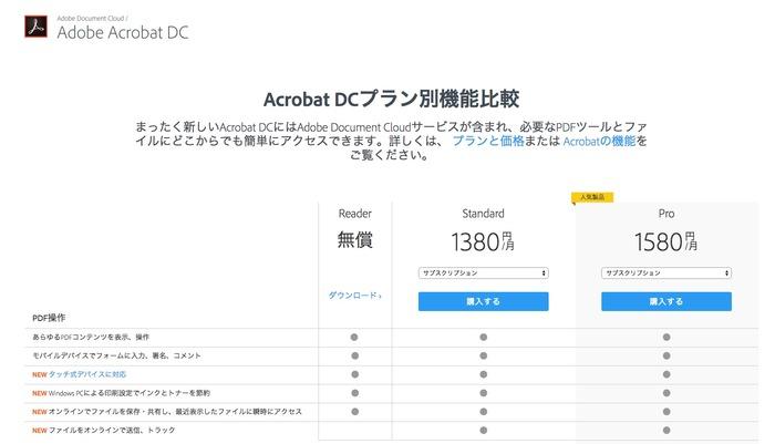 Adobe-Acrobat-DC-プラン