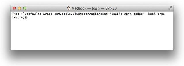 MacBookでapt-Xプロトコルを有効化