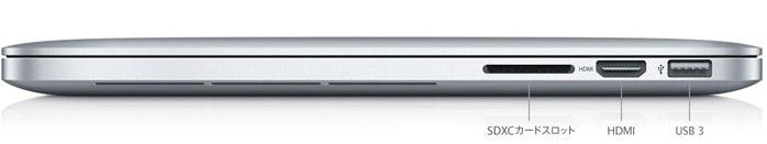 MacBook ProのSDXCカードスロット Hero