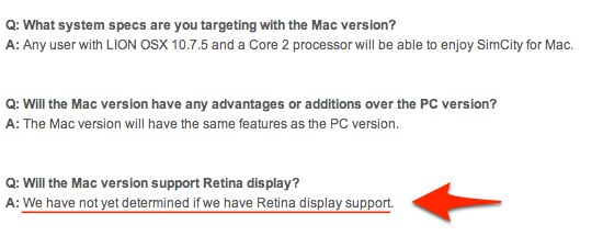 Retina対応: We have not yet determined if we have Retina display support