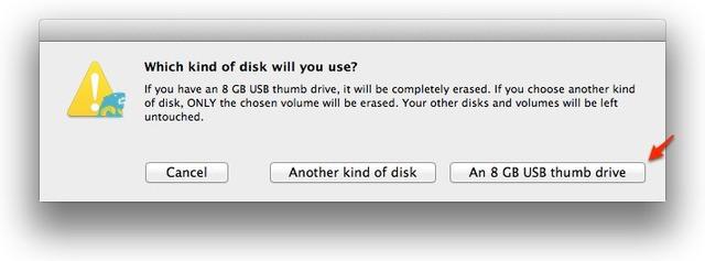 3-8GB以上のUSBメモリーを持っている場合