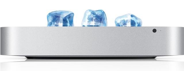 Mac miniの上に氷乗せるか