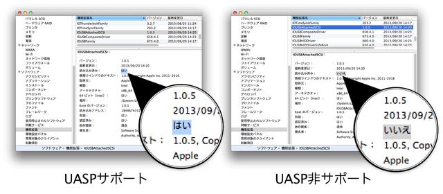 MacでUASPデバイスを確認する方法