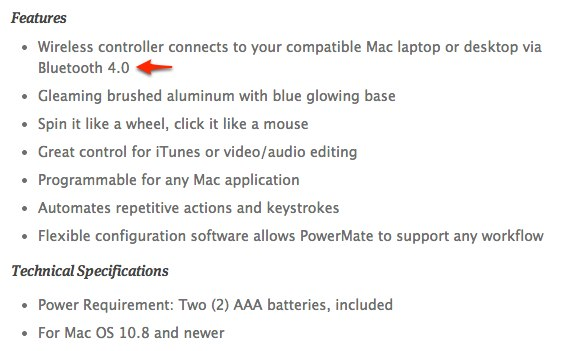 Power-Mate-Bluetooth-Techical-Specifications