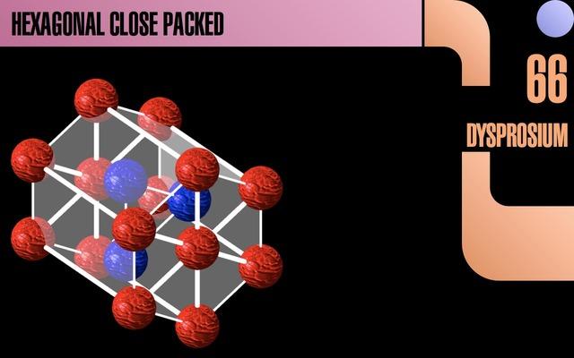 ElementTrekはEscキーで結晶構造を拡大可能