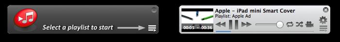Miniplayer for YouTubeはiTunesのミニプレイヤーに似たコントローラーです