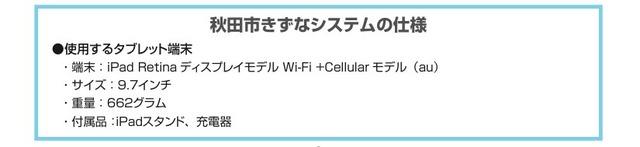 総務省ICT超高齢者社会づくり推進事業秋田市きずなシステム用iPad2