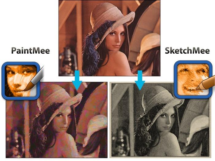 PaintMeeとSketchMeeの比較