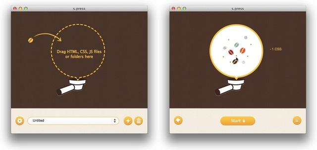 s.pressはHTML、CSS、JavaScriptを圧縮してくれるアプリです