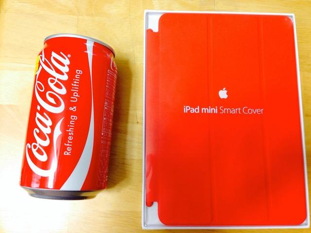 コカ・コーラとiPad-mini-Smart-Coverの色