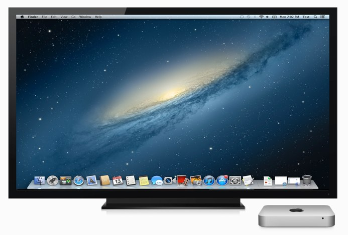 テレビとMac mini Hero