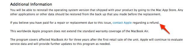 If you believe you have paid for a repair or replacement due to this issue, contact Apple regarding a refund.