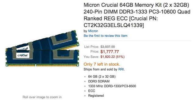 Micron Crucial 64GB Memory