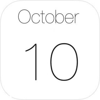 iOS7カレンダー風の月アイコン