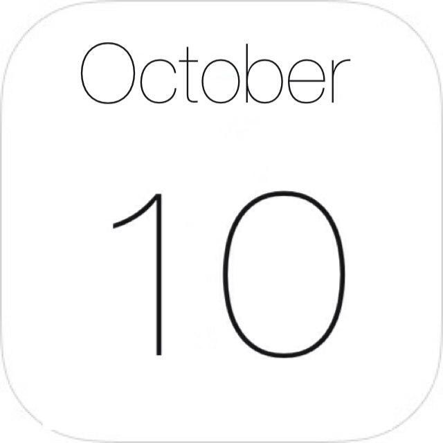 "iOS7のカレンダーアプリ風""年月""アイコンを表示する方法"
