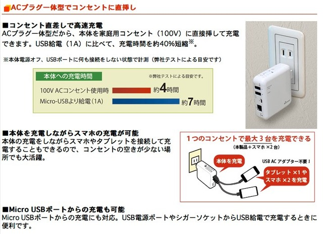 REX-WIFIUSB2-コンセント直差しでタブレットも充電可能
