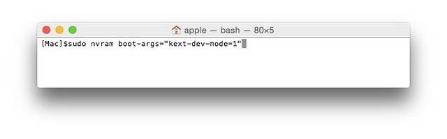 Yosemite-kext-dev-mode=1