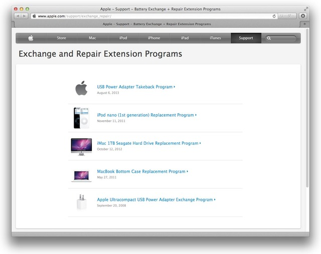 Exchange and Repair Extension Programs