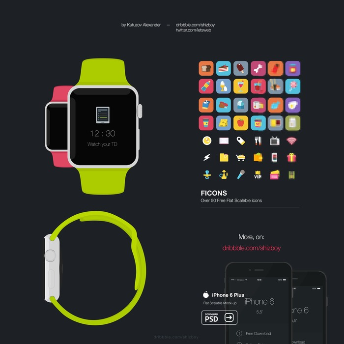 Apple Watch Music Mockup