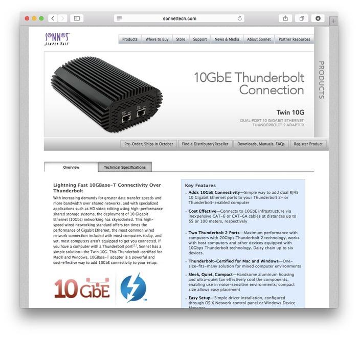 SONNET-Twin-10G-Adapter