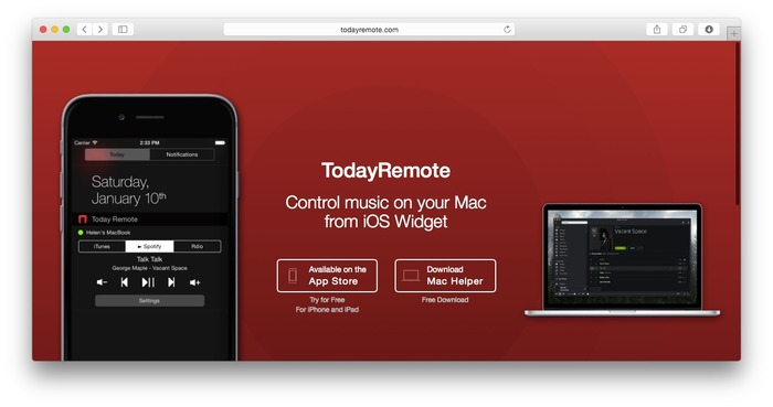 TodayRemote-Control-music-on-your-Mac-from-iOS