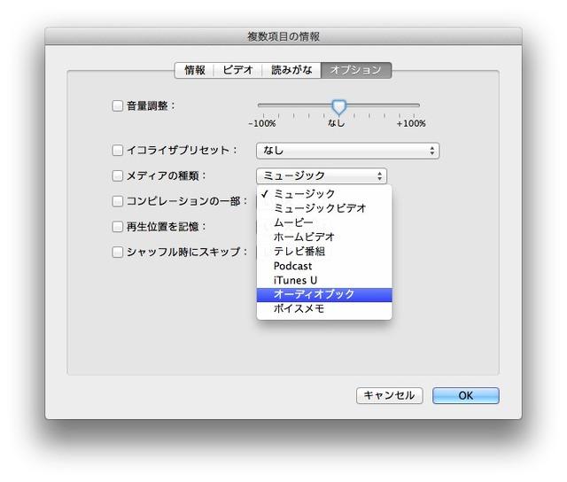 iTunes-Macth-メディアの種類