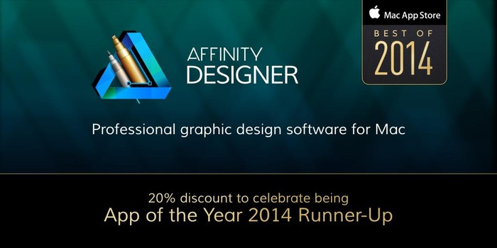 Affinity Designer is now on sale to celebrate being Apple's 2014's App of the Year Runner-Up
